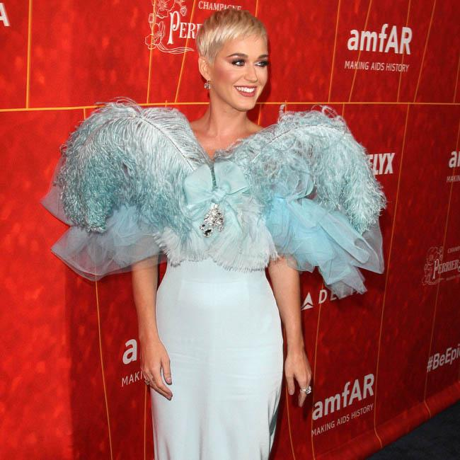 Katy Perry accepts Courage Award at the amfAR gala