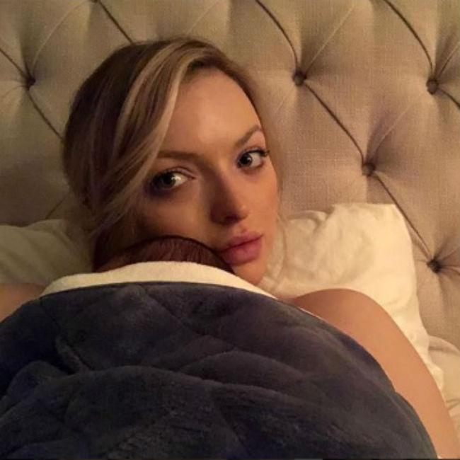 Francesca Eastwood shows off baby boy