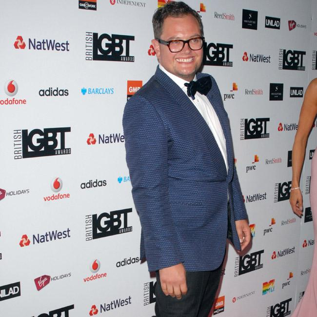 Alan Carr dresses up as Gemma Collins in bed