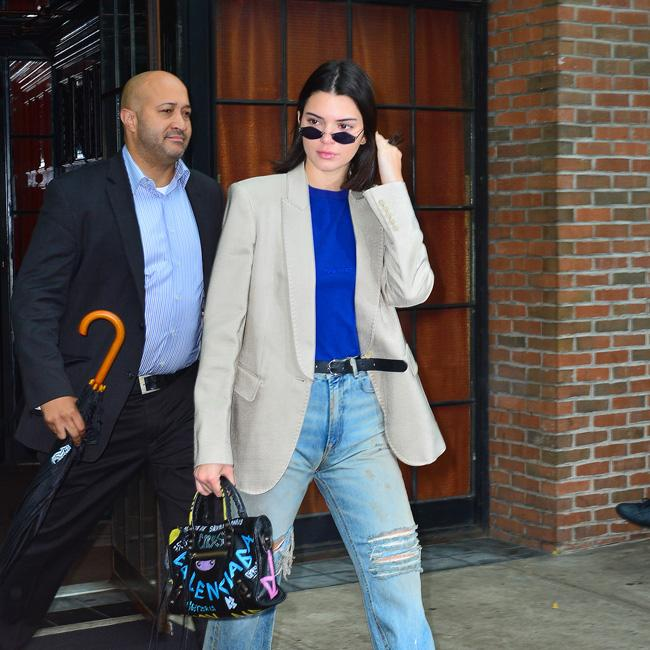 Kendall Jenner jokingly boos Tristan Thompson during basketball game
