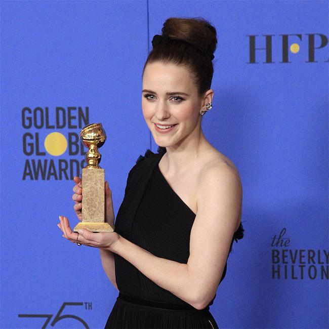 Rachel Brosnahan keeps her Golden Globes in her bathroom
