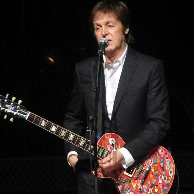 Sir Paul McCartney receives Gold Blue Peter badge
