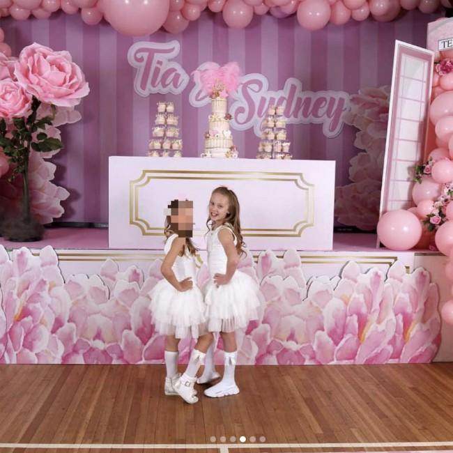 Kate Wright throws birthday party for step-daughter Tia