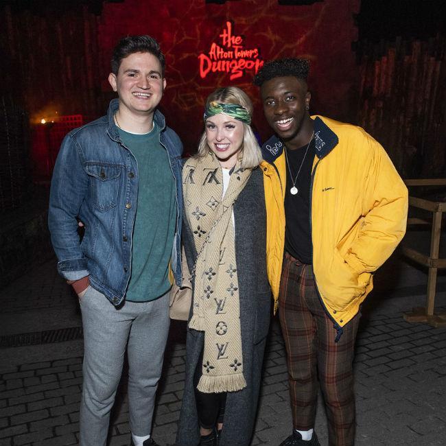 Jorgie Porter's spooky trip with pals