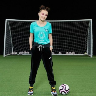 Millie Bobby Brown supports women's football with EUFA