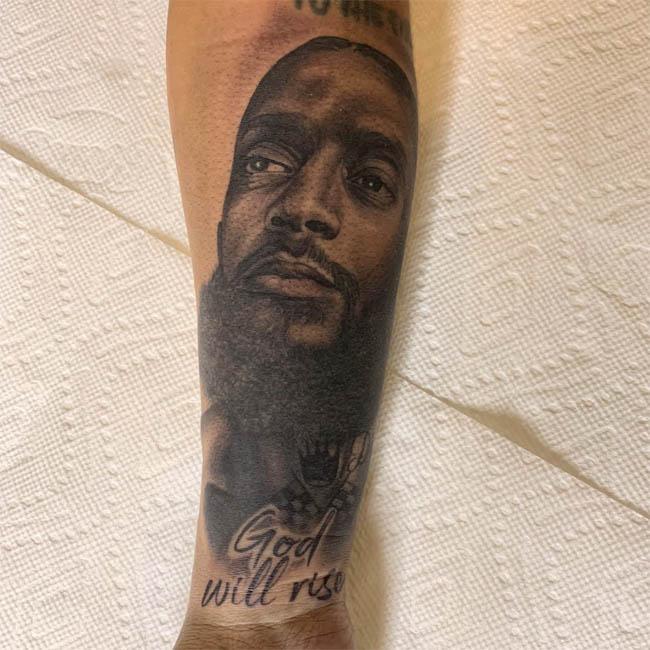 Lauren London gets tattoo tribute to Nipsey Hussle