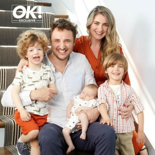 James Bye keen to renew wedding vows after welcoming third child