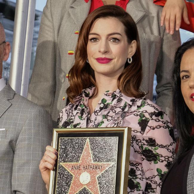Anne Hathaway Receives Walk Of Fame Star