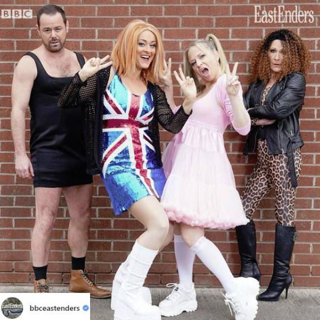 Emma Bunton loves Kellie Bright's EastEnders Baby Spice outfit
