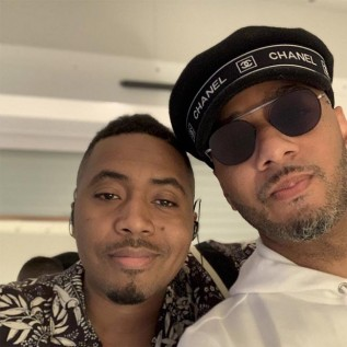 Nas and Swizz Beatz perform to A-listers at Spotify Beach at Cannes Lions festival