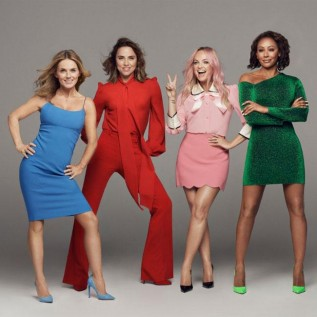 Spice Girls joke about Victoria Beckham's absence at Wembley show