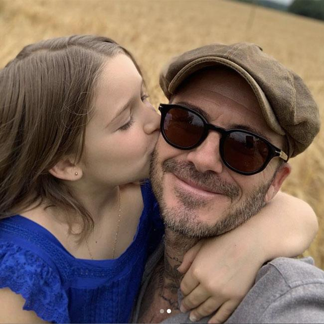 David Beckham asks daughter Harper to 'stop growing up' on 8th birthday