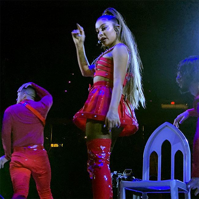 Ariana Grande admits she's 'still processing a lot' after crying on stage