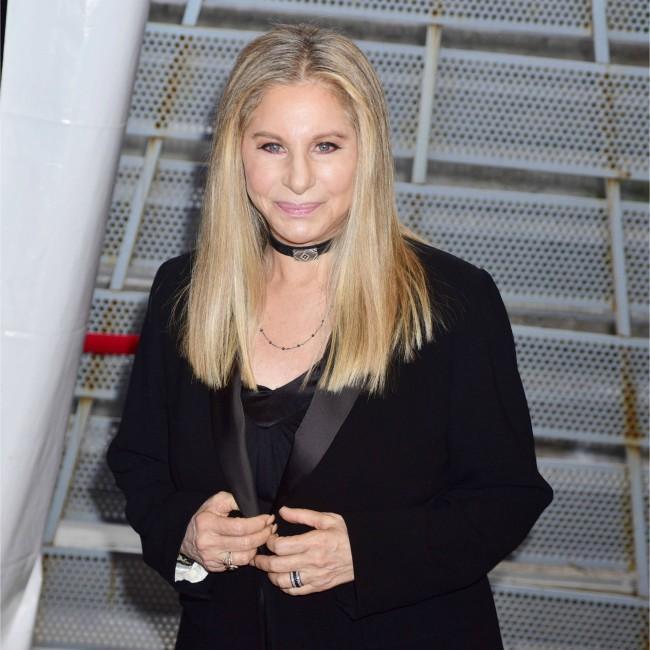 Barbra Streisand brings out cloned dogs in custom pram at BST Hyde Park