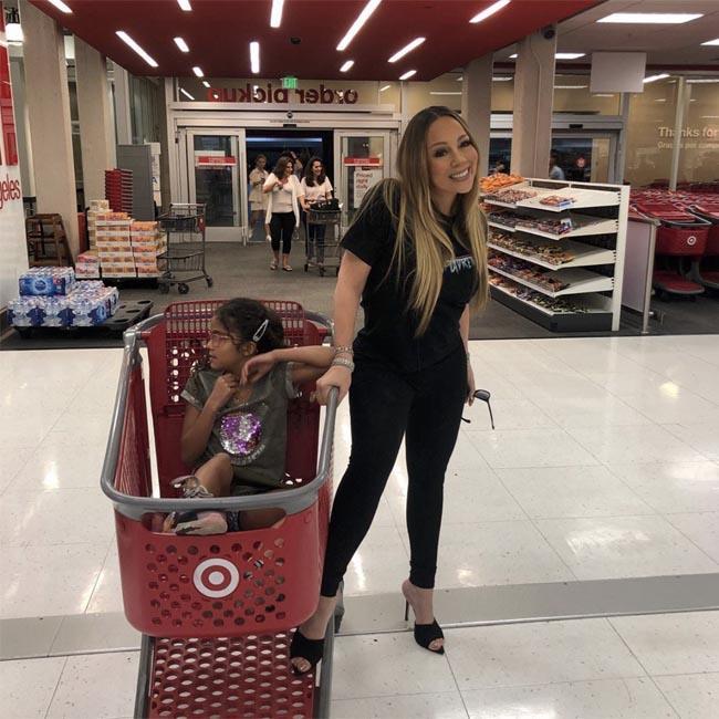 Mariah Carey's daughter takes her shopping at Target