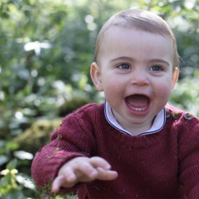Prince Louis loves the garden