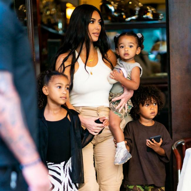 Kim Kardashian West gets youngest kids baptised