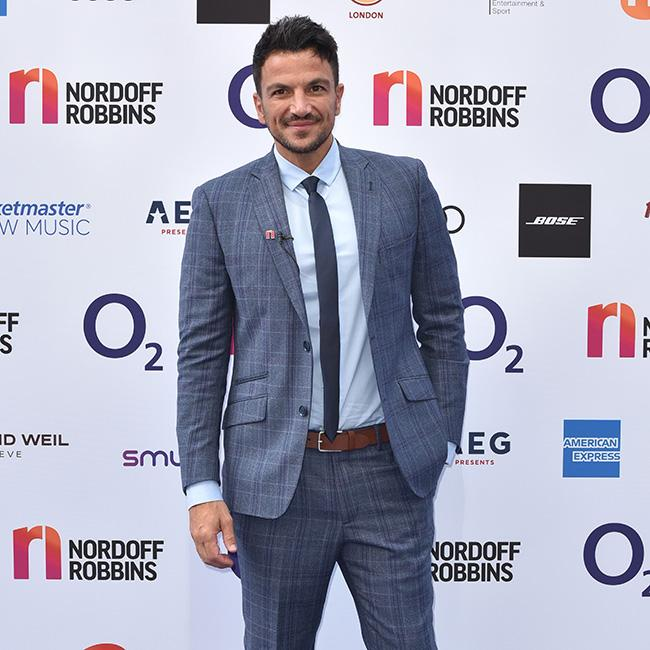 Peter Andre spilt his coffee at Buckingham Palace