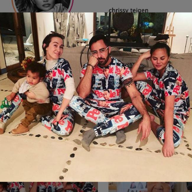 Chrissy Teigen turns John Legend's Sexiest Man cover into Pyjamas