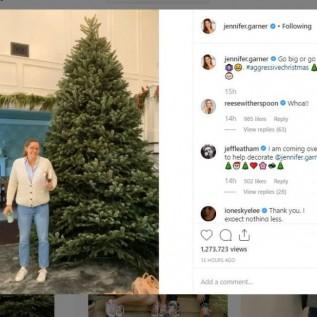 Jennifer Garden's aggressive Christmas tree