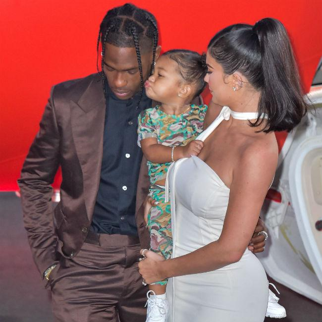 Kylie Jenner and Travis Scott co-parenting at Christmas