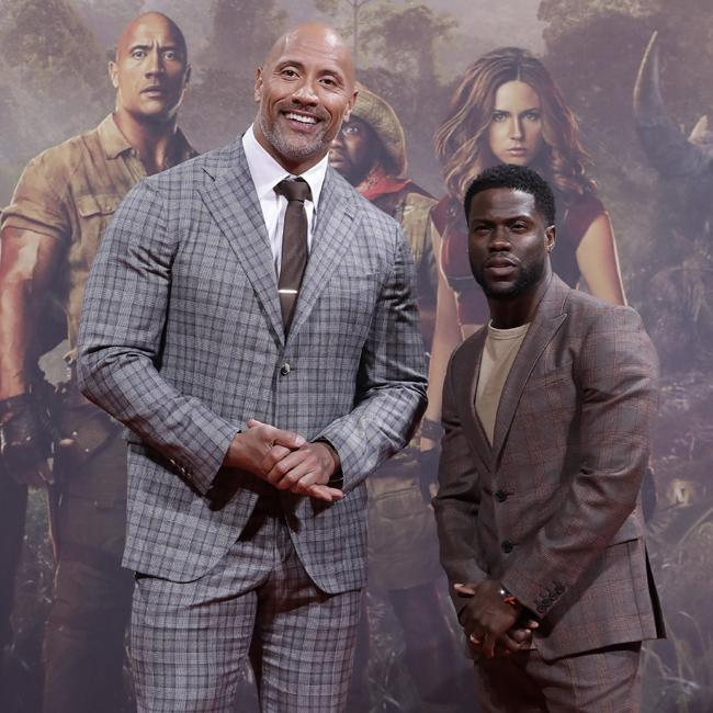 Dwayne Johnson and Kevin Hart spotted in I'm A Celeb jungle