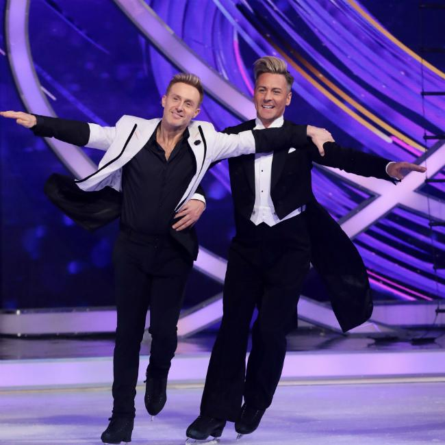 Ian H Watkins and Matt Evers' manhoods 'getting in the way' of Dancing on Ice moves
