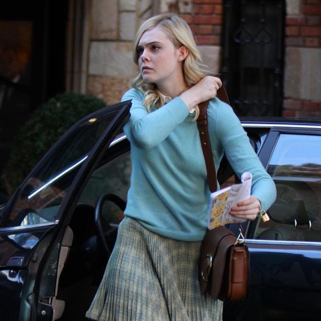 Elle Fanning collects gum wrappers