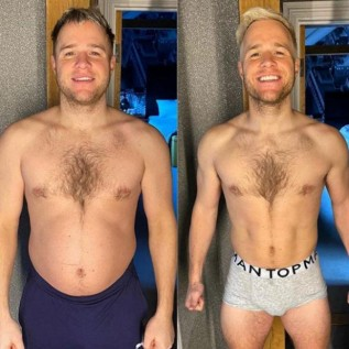 Olly Murs says he's 'buzzing' after losing weight