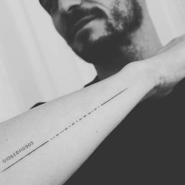 Orlando Bloom's Morse code tattoo of son's name is misspelled